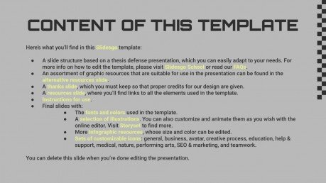 Brutalist Palette Style Thesis presentation template