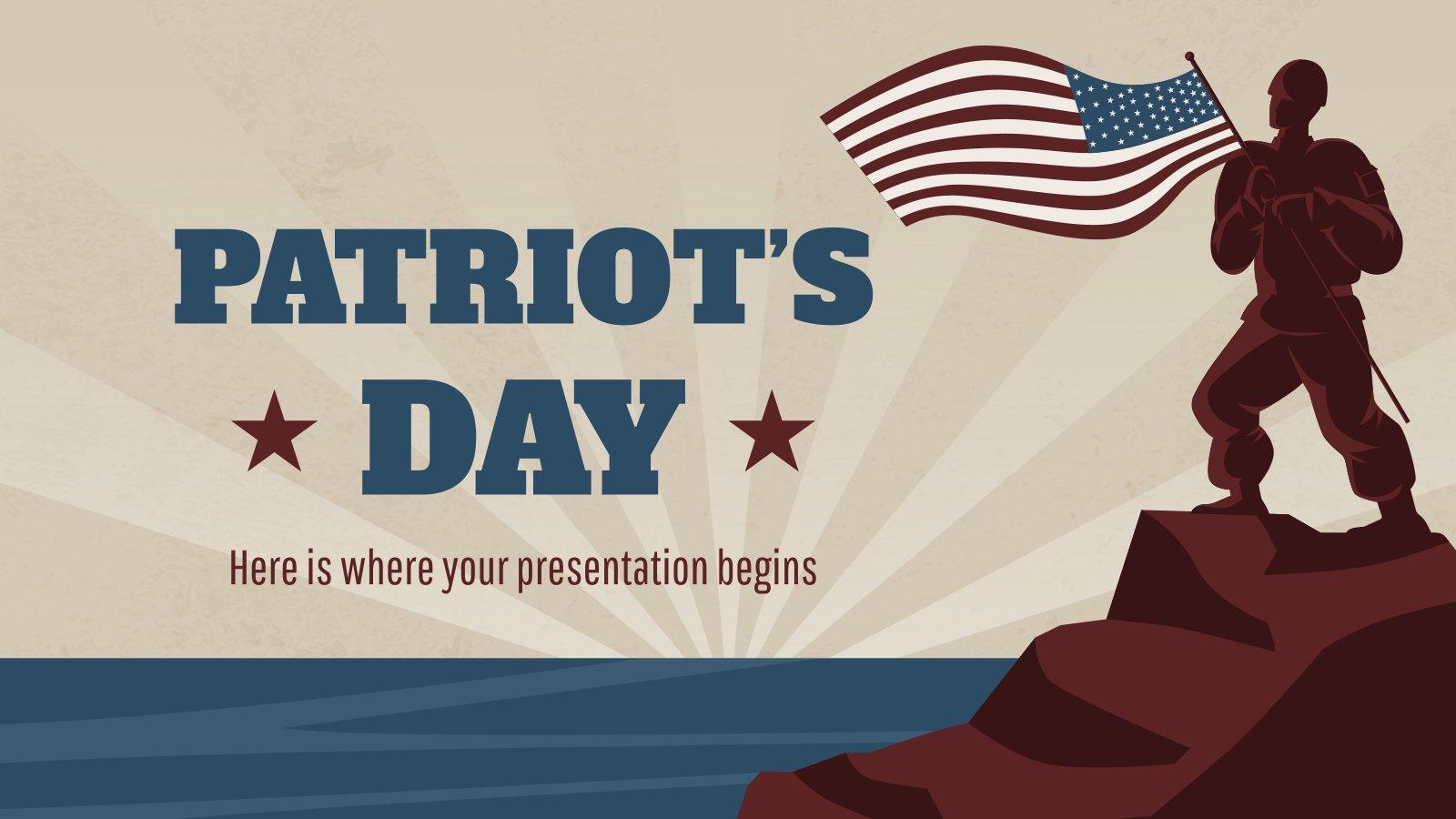 Plantilla de presentación Día del Patriota
