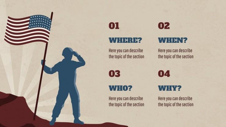 Le jour des Patriotes : Modèles de présentation
