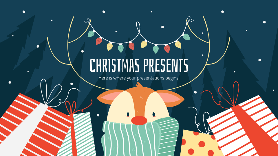 Christmas Presents presentation template