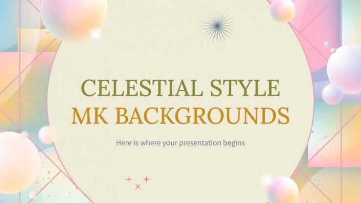 Plantilla de presentación Fondos MK de estilo celestial
