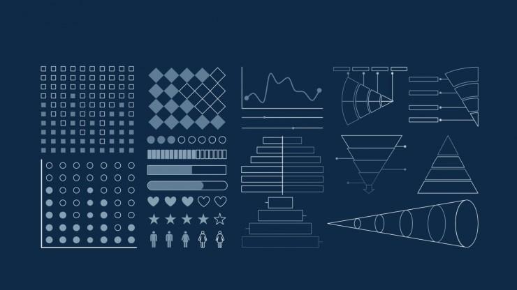 Modelo de apresentação Planos de fundo celestiais para marketing