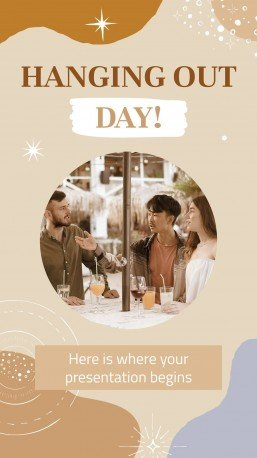 Hanging Out Day! presentation template