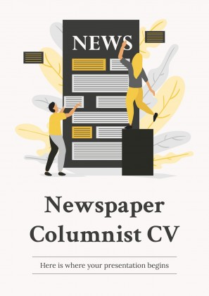 Plantilla de presentación CV columnista de prensa