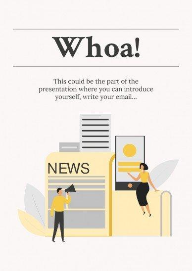 Newspaper Columnist CV presentation template