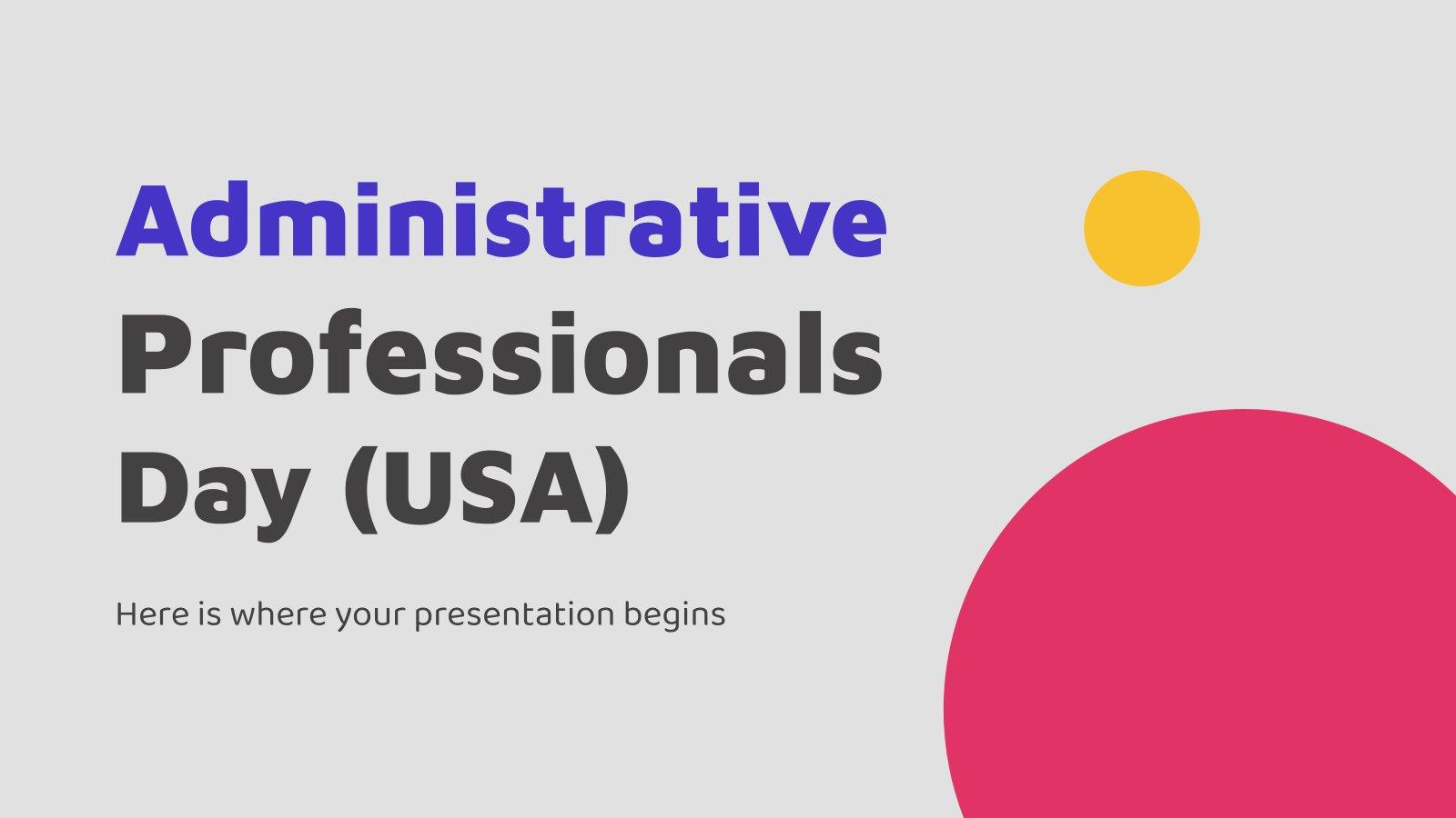 Plantilla de presentación Día de los profesionales de la administración (EE.UU.)