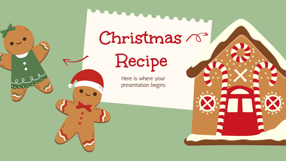 Christmas Recipe presentation template