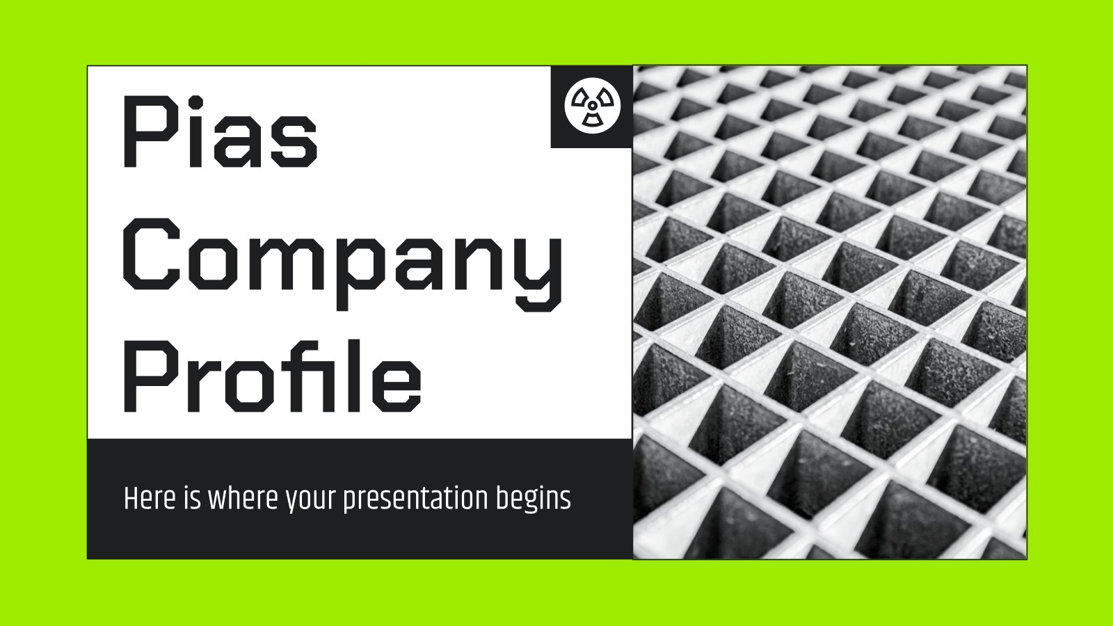 Pias Company Profile presentation template