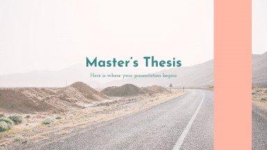 Mémoire de master : Modèles de présentation