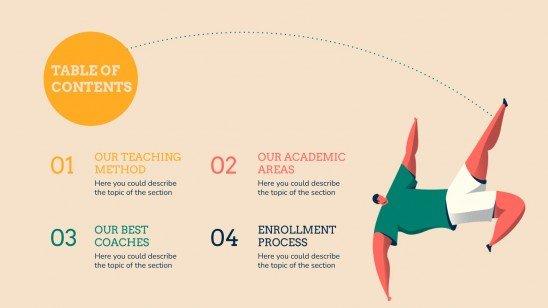 Modelo de apresentação Centro de educação física