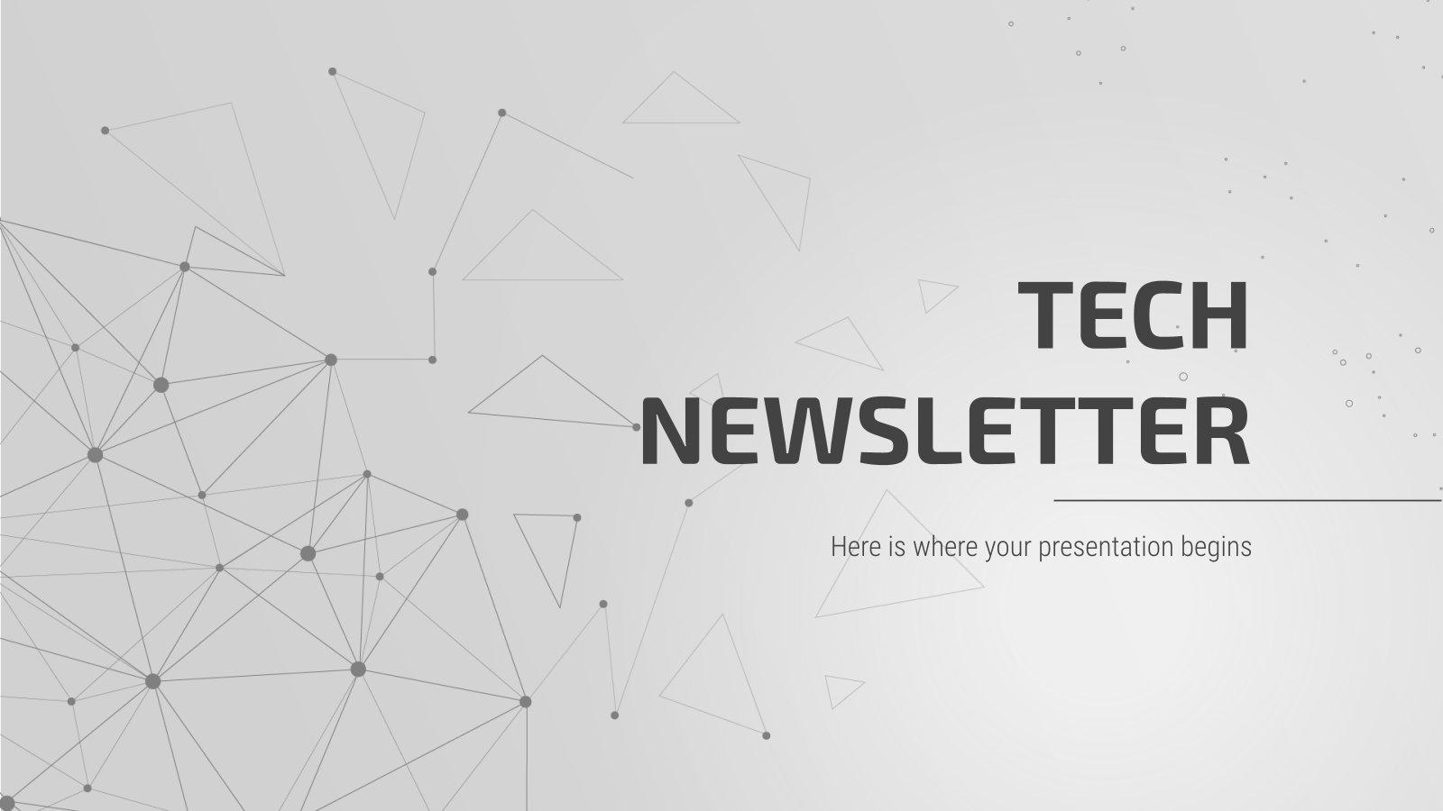 Technik-Newsletter Präsentationsvorlage