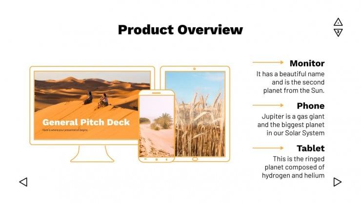 Plantilla de presentación Pitch deck genérico