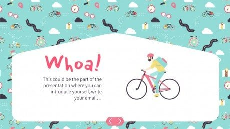 Bicycle Pattern presentation template