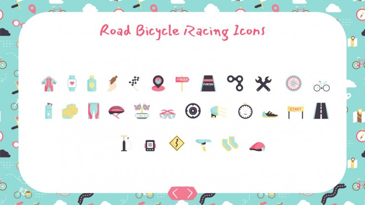 Plantilla de presentación Patrones de bicicletas