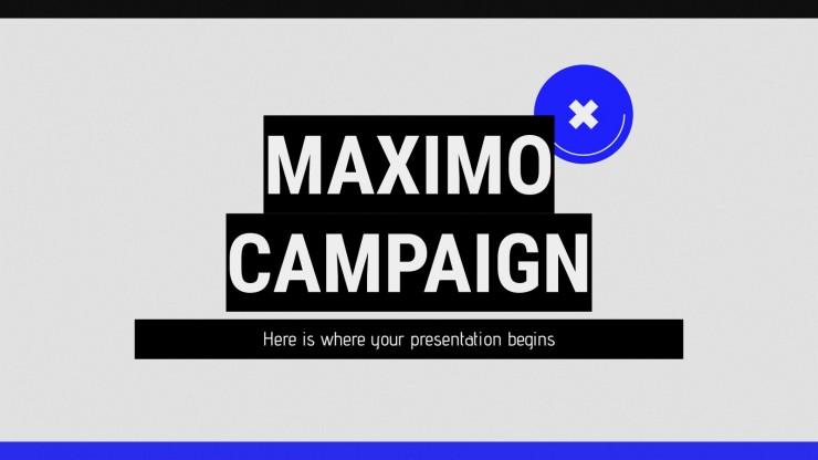 Modelo de apresentação Campanha Máximo