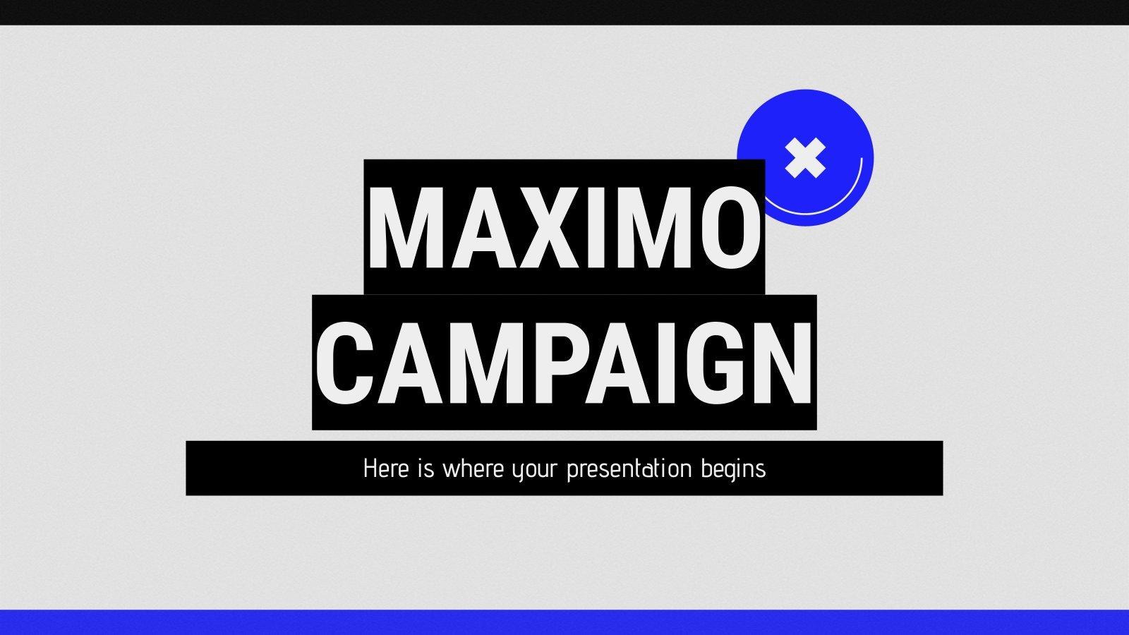 Plantilla de presentación Campaña Máximo