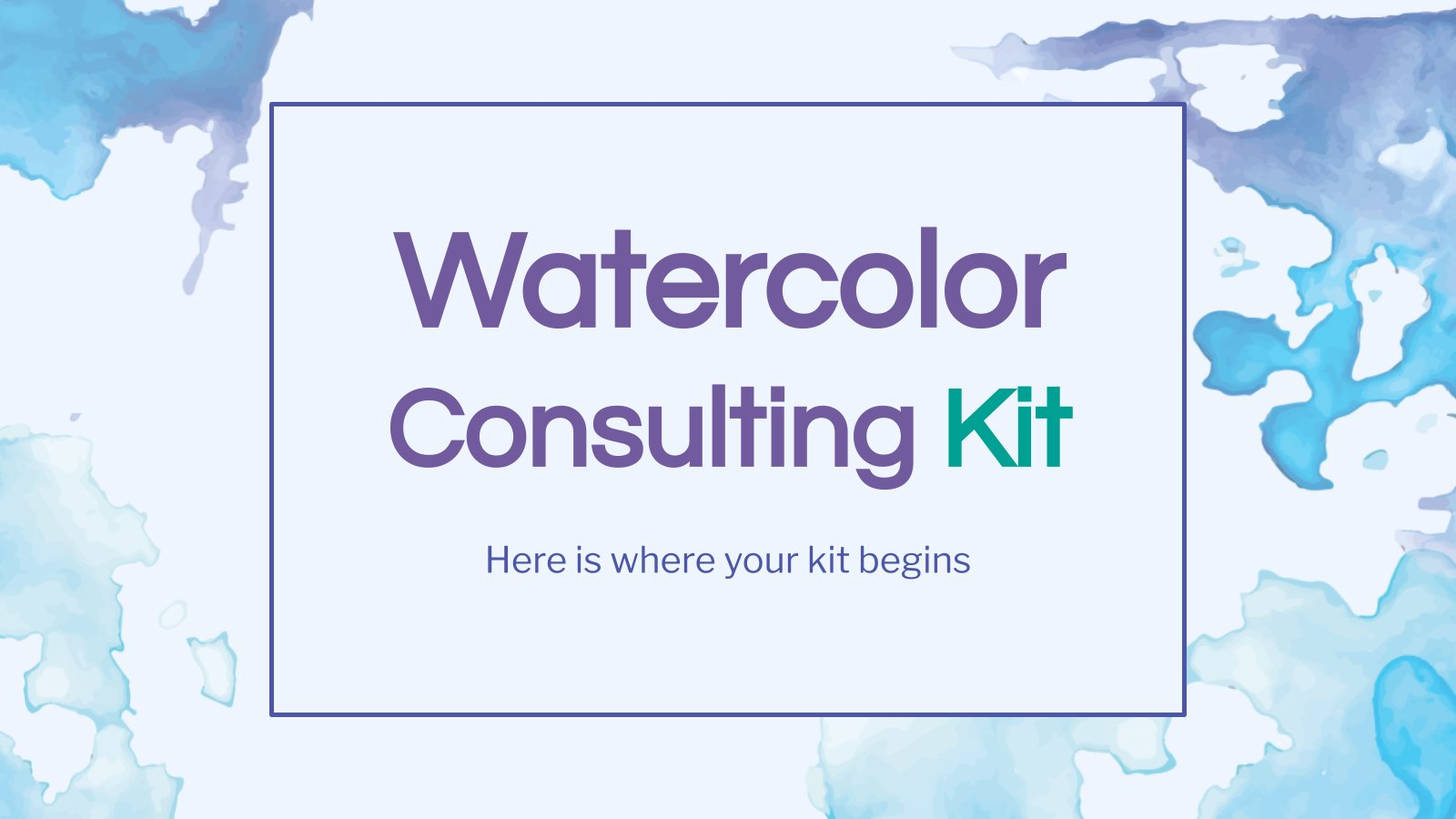 Watercolor Consulting Kit presentation template