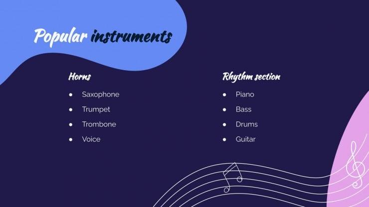 International Jazz Day presentation template