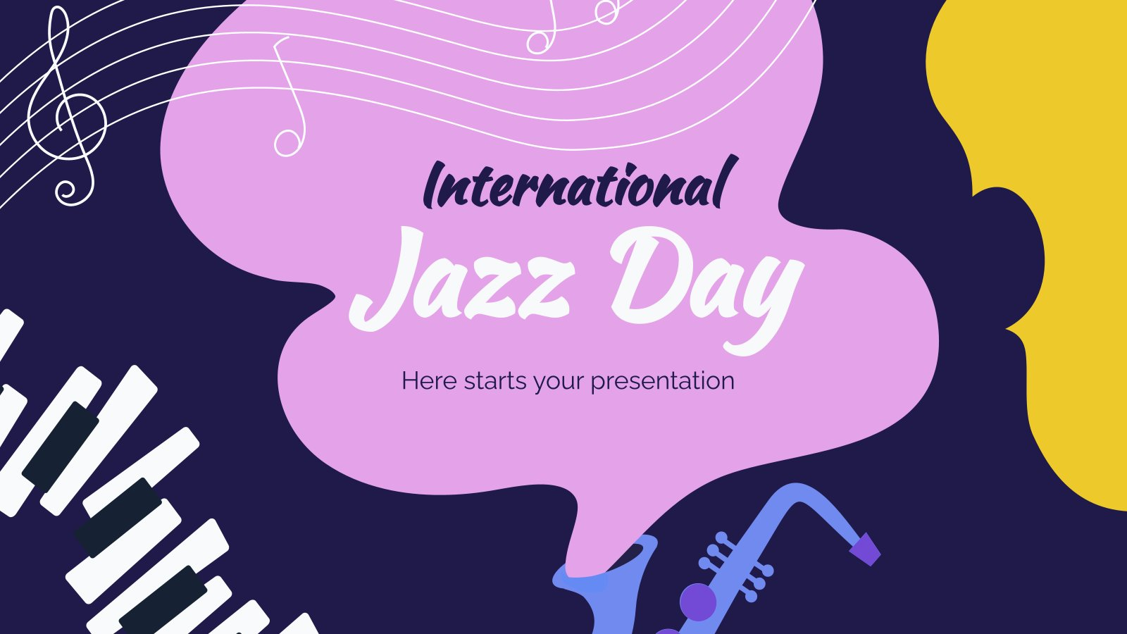 International Jazz Day presentation template