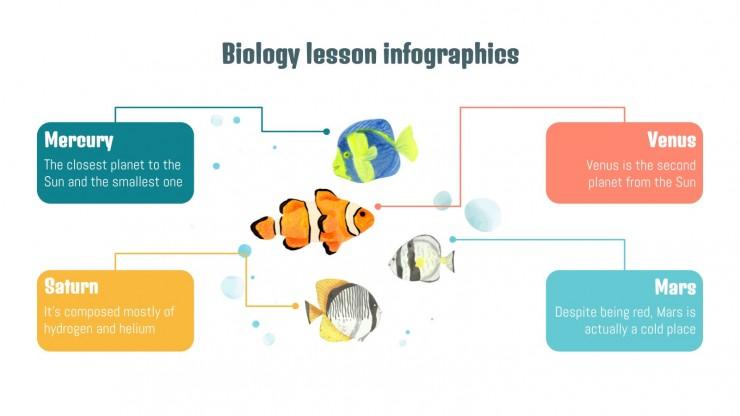 Infographies cours de biologie : Modèles de présentation