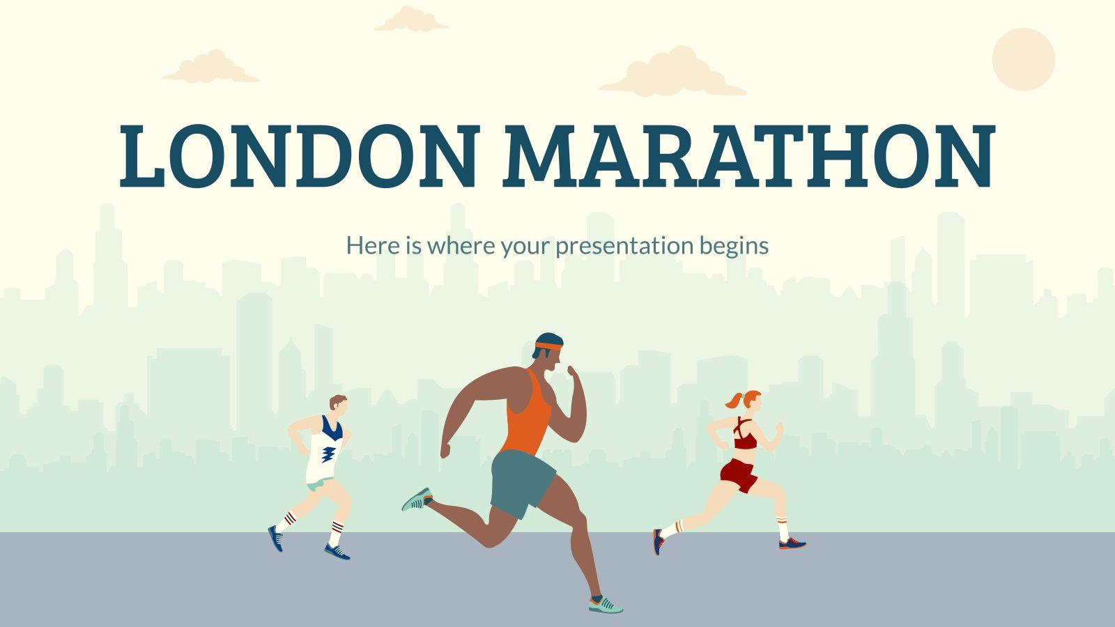 Marathon de Londres : Modèles de présentation