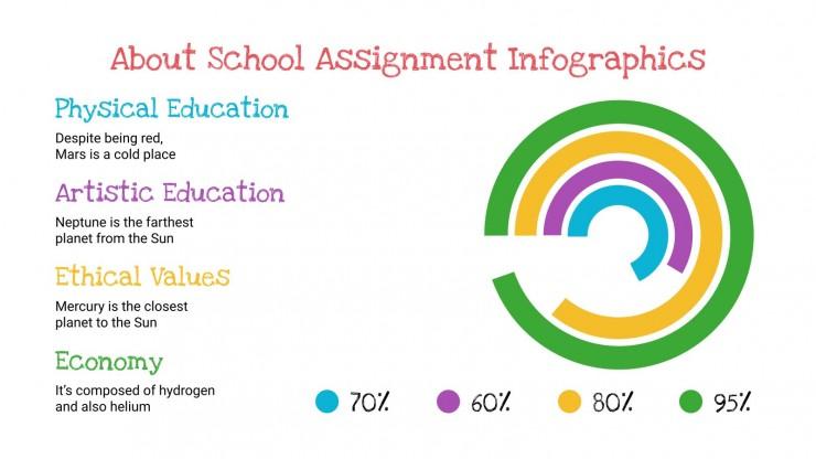 School Assignments Infographics presentation template