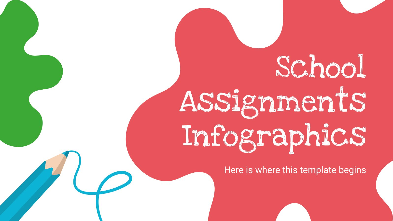 School Assignments Infographics presentation template