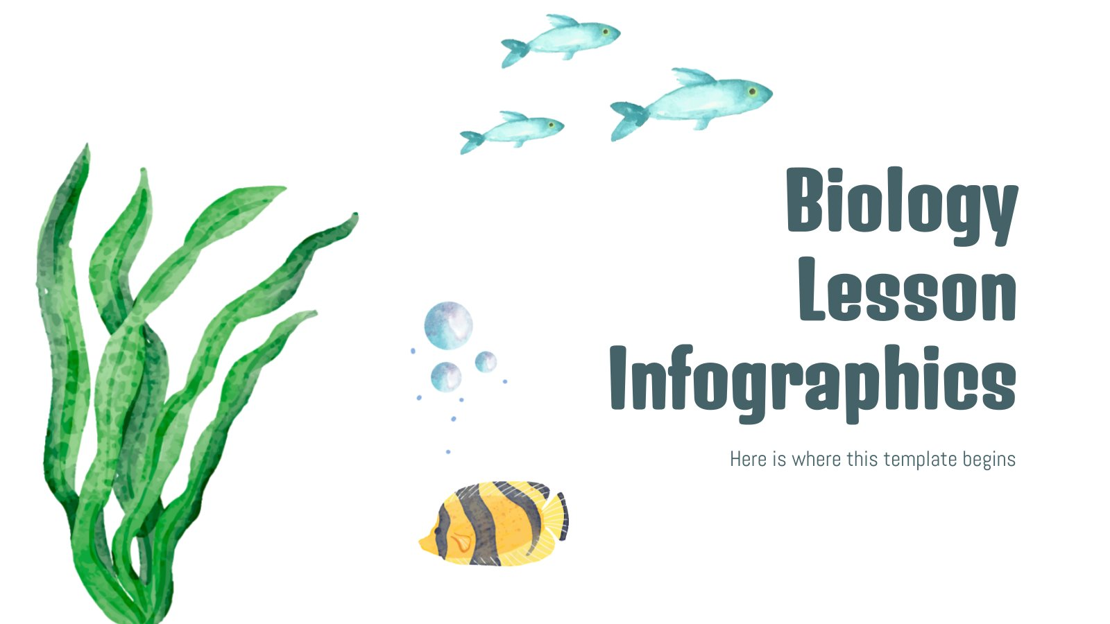Biology Lesson Infographics presentation template
