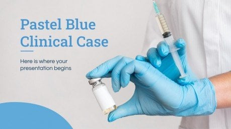 Modelo de apresentação Caso clínico azul pastel