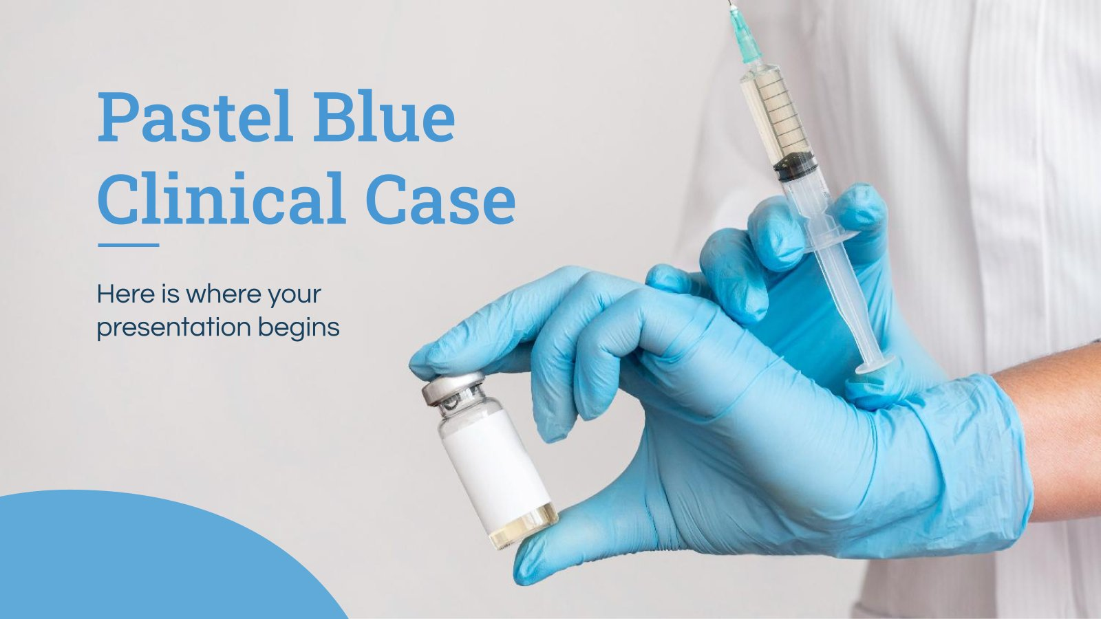 Pastel Blue Clinical Case presentation template