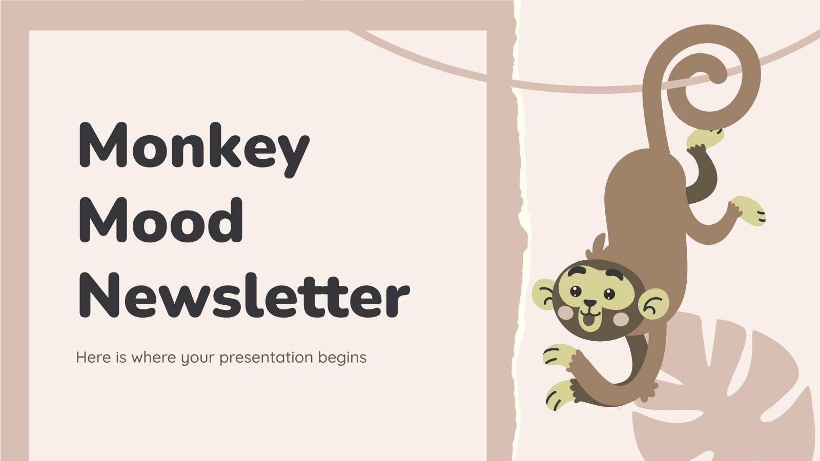 Monkey Mood Newsletter presentation template