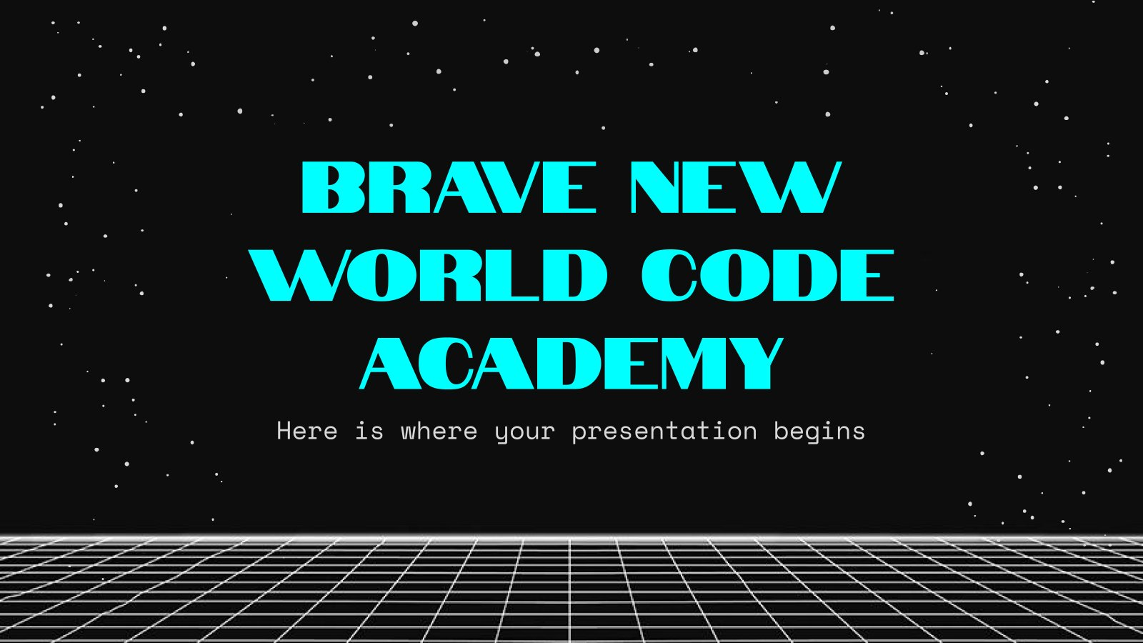 Brave New World Code Academy presentation template