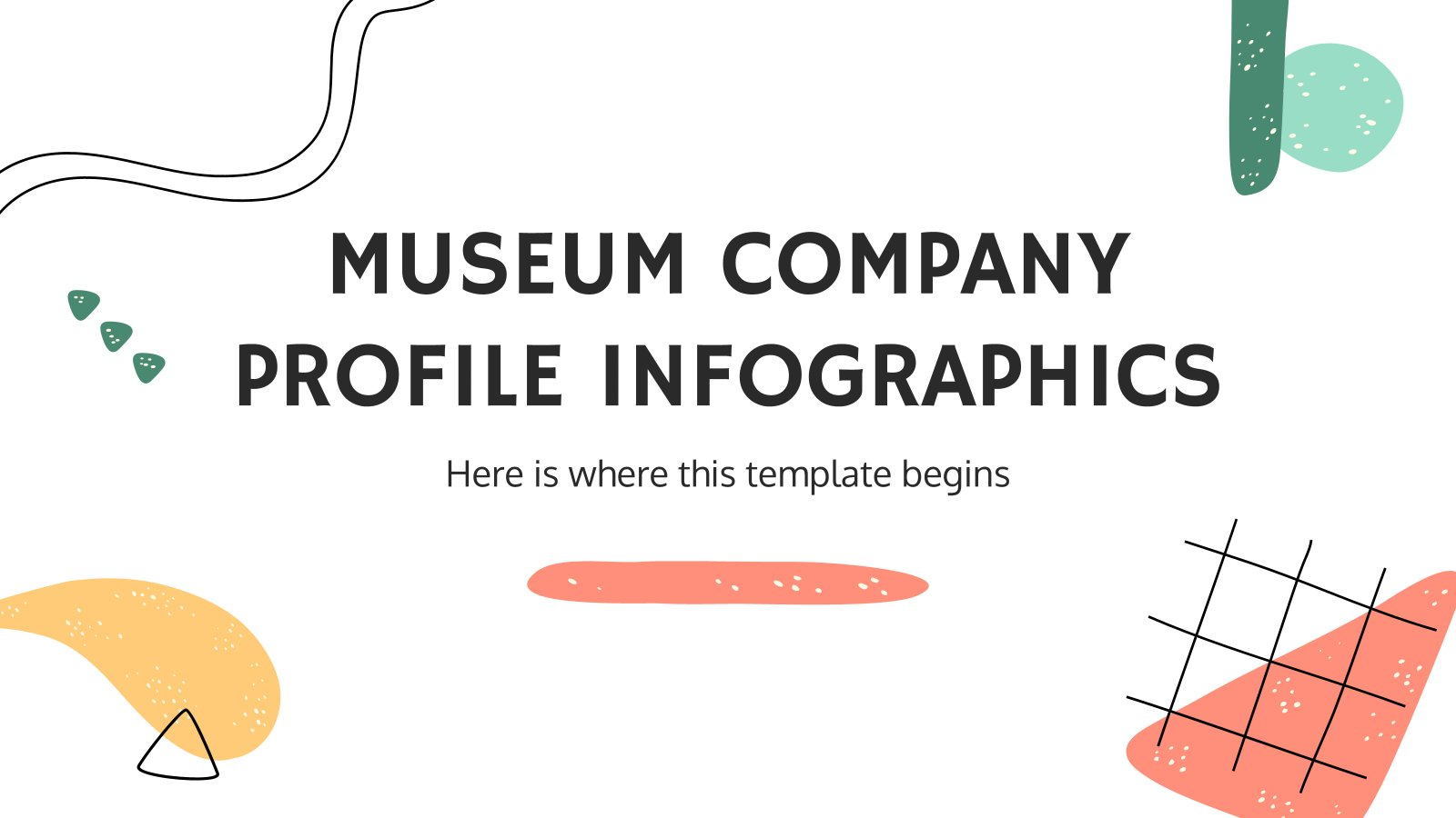 Museum Company Profile Infographics presentation template