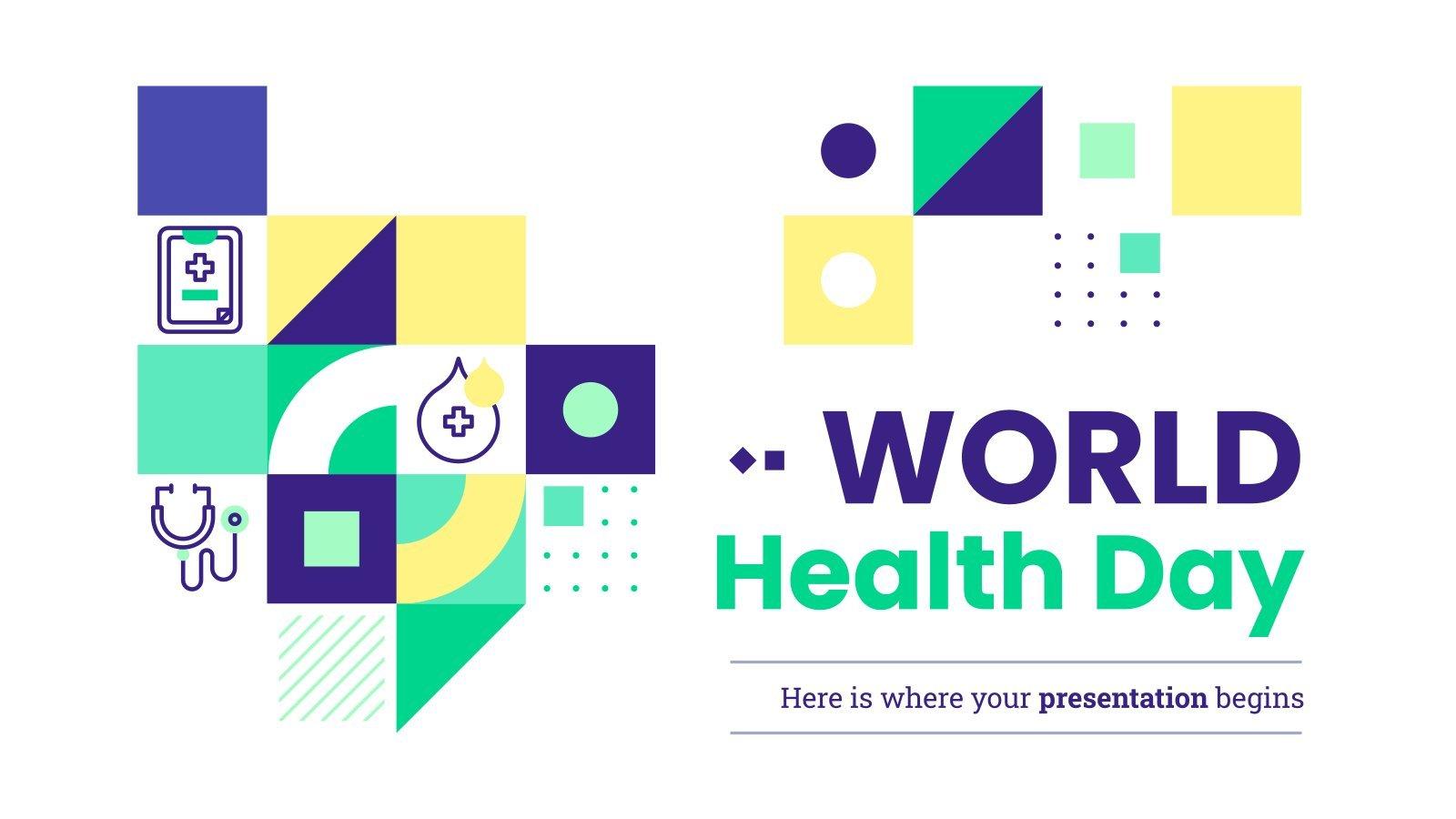 Plantilla de presentación Día Mundial de la Salud