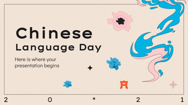 Chinese Language Day presentation template