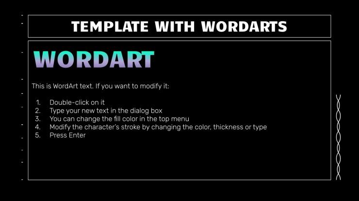 Nouvelle vague de diapositives sombres et linéaires : Modèles de présentation