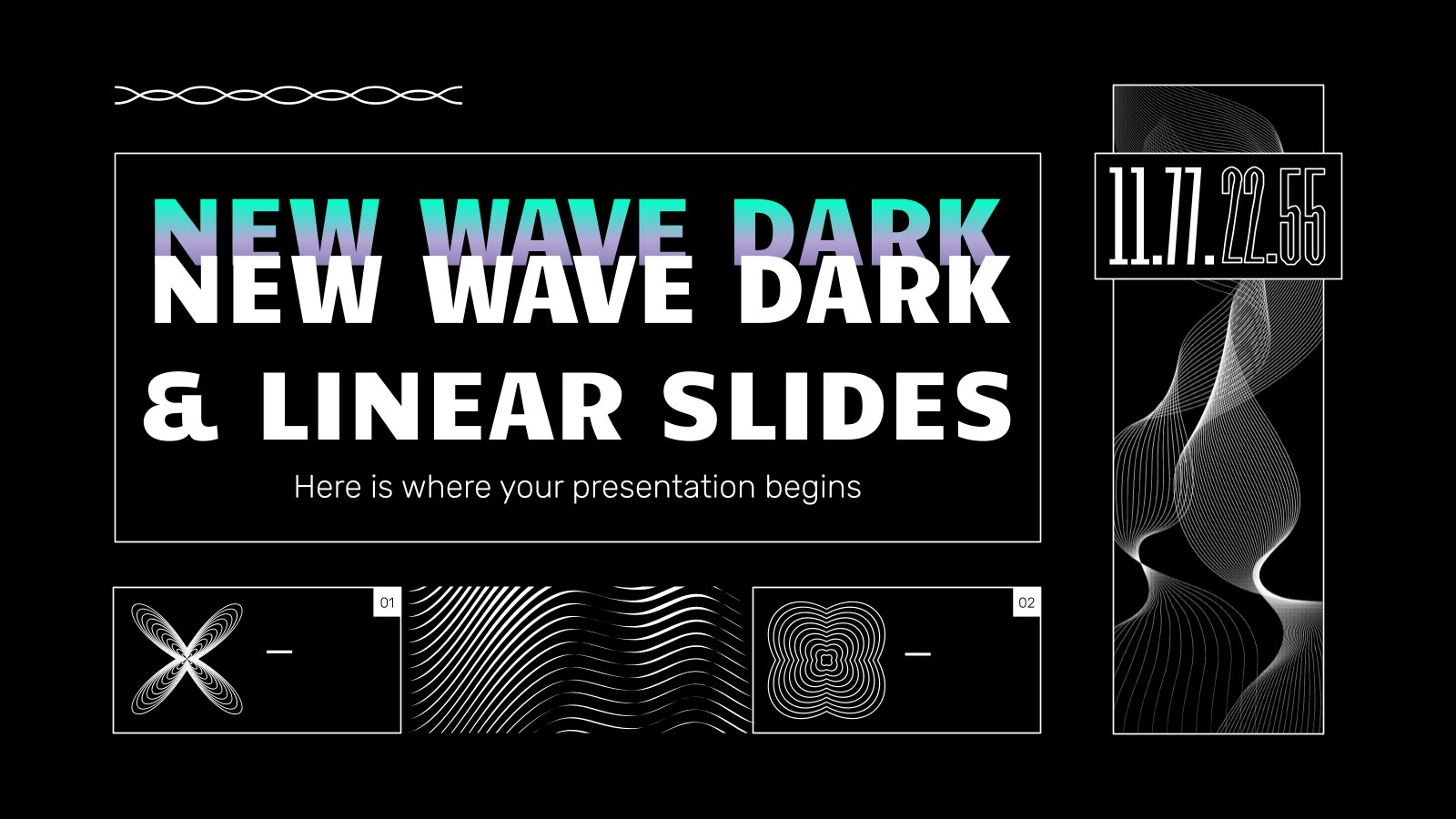 New Wave Dark & Linear Slides presentation template