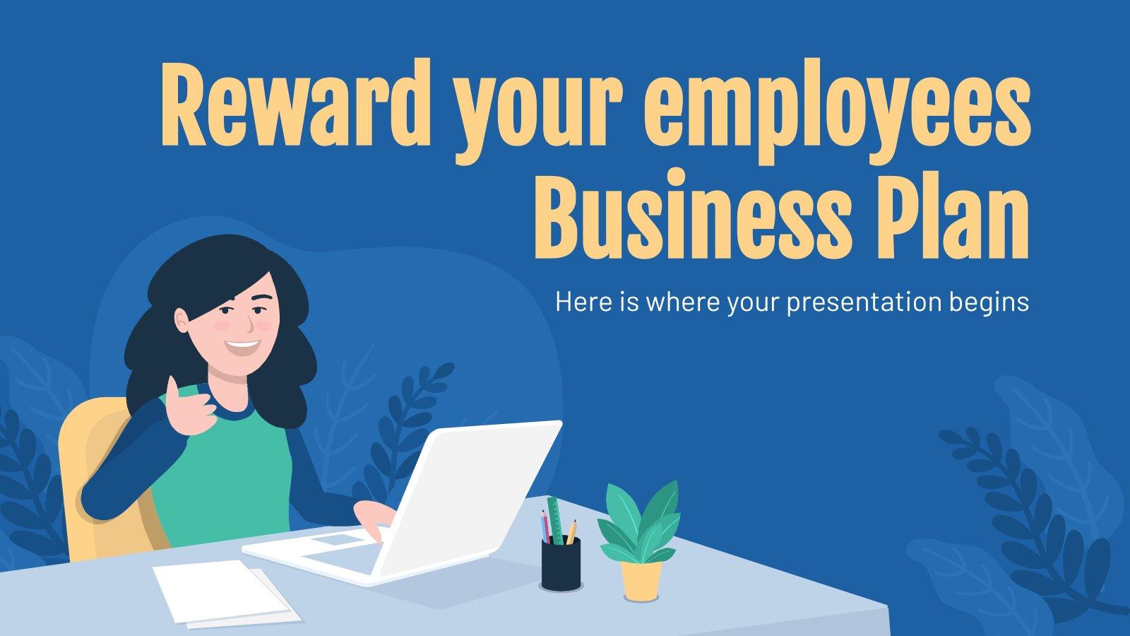 Belohne deine Mitarbeiter Businessplan Präsentationsvorlage