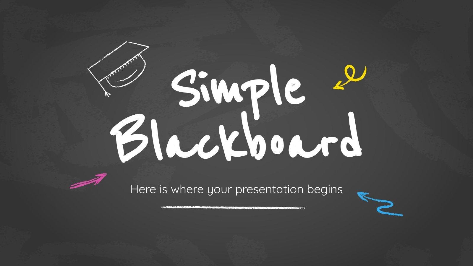 Einfacher Tafel-Hintergrund Präsentationsvorlage
