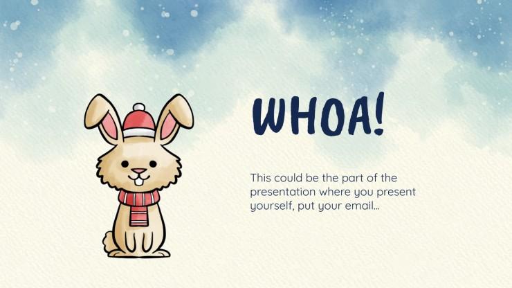 Animaux d'hiver mignons : Modèles de présentation