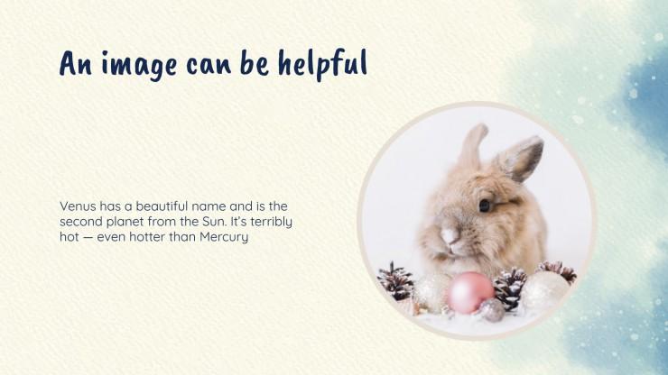 Cute winter animals presentation template