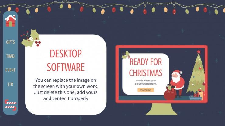 Modelo de apresentação Preparados para o Natal