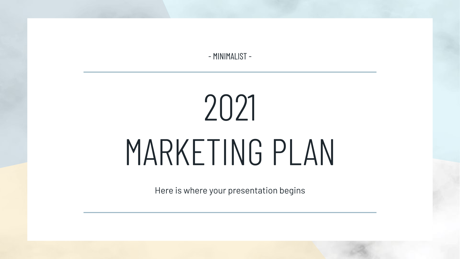 2021 Marketing Plan presentation template