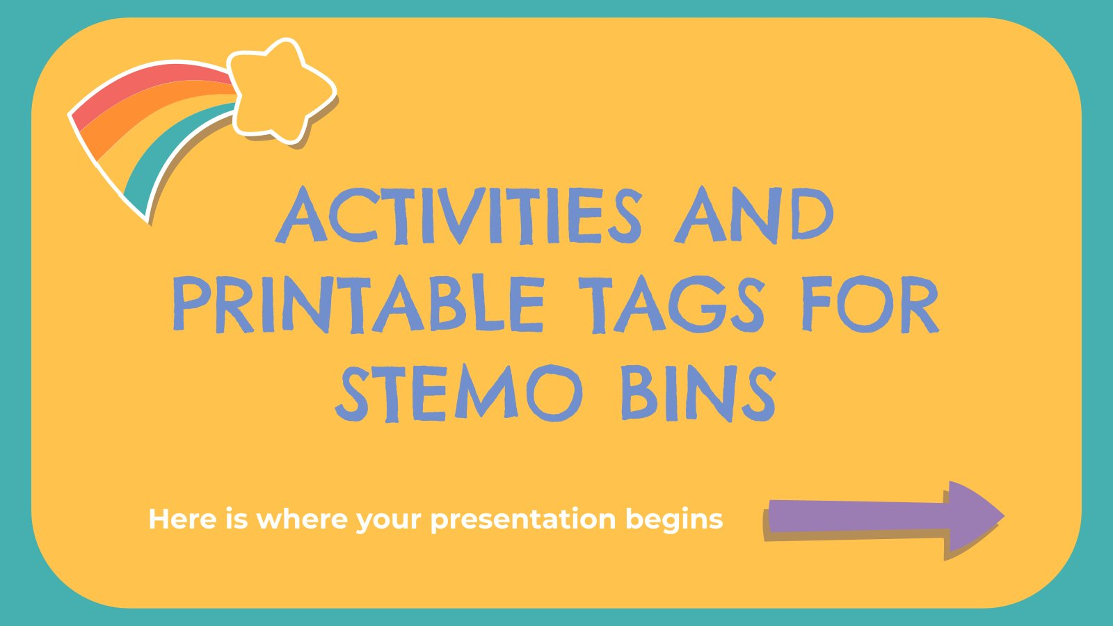 Activities and Printable Tags for STEMO Bins presentation template