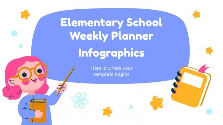 Infographies planificateur hebdomadaire école primaire