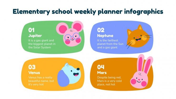 Elementary School Weekly Planner Infographics presentation template