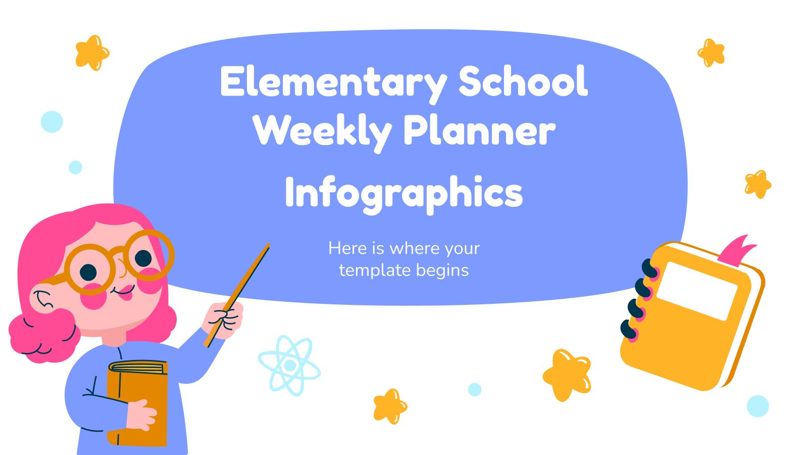 Elementary School Weekly Planner Infographics presentation template
