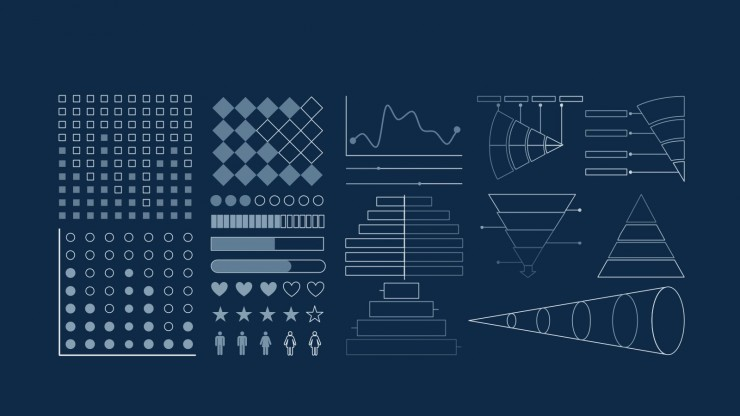Modelo de apresentação Agência com formas geométricas
