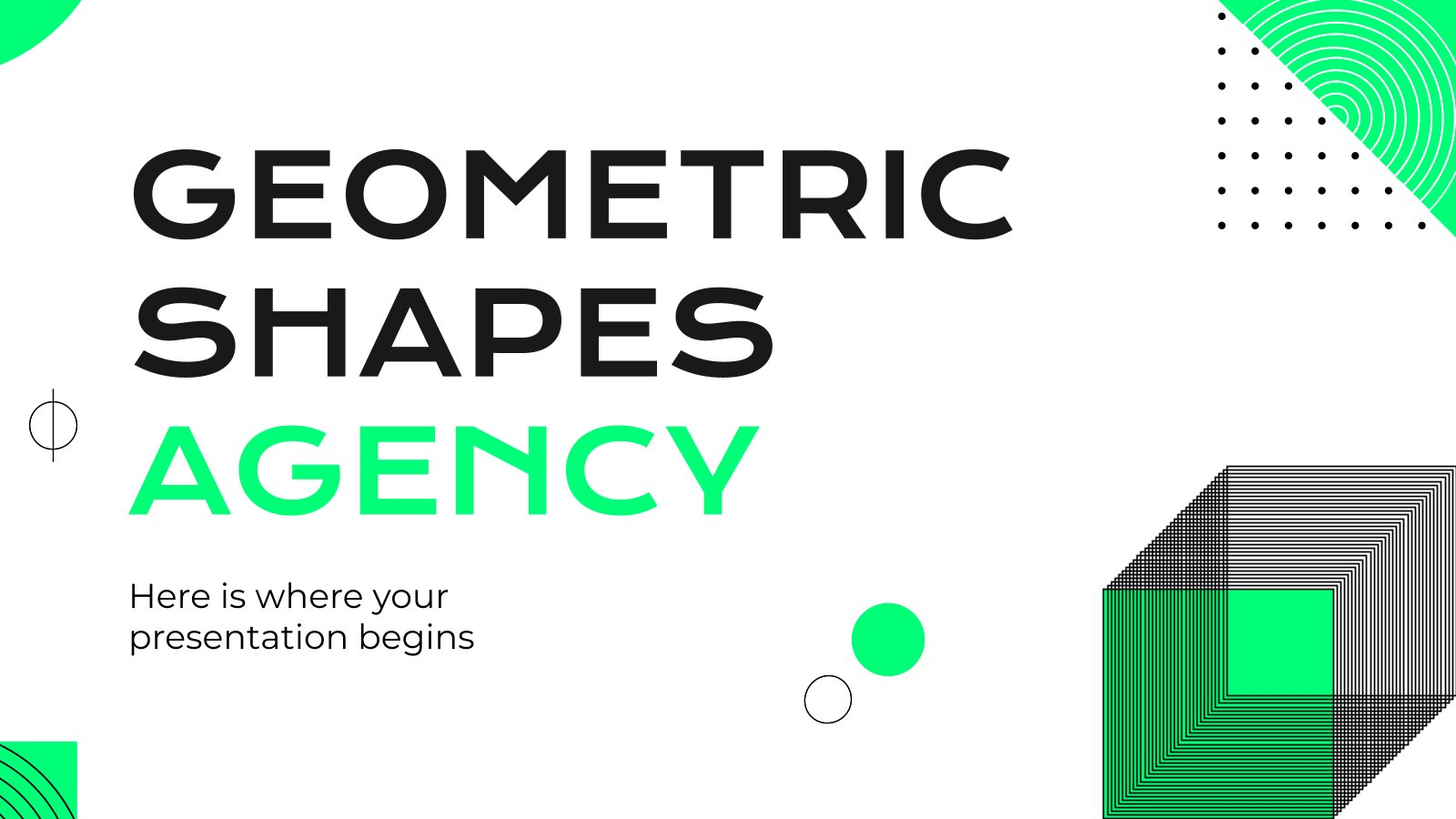 Geometric Shapes Agency presentation template