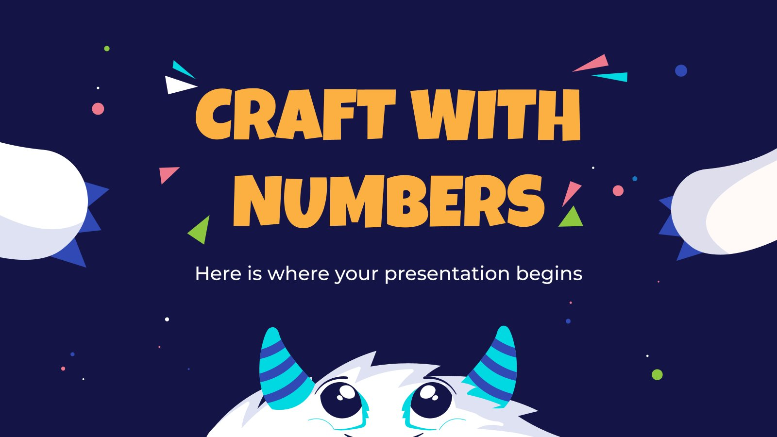 Craft With Numbers presentation template
